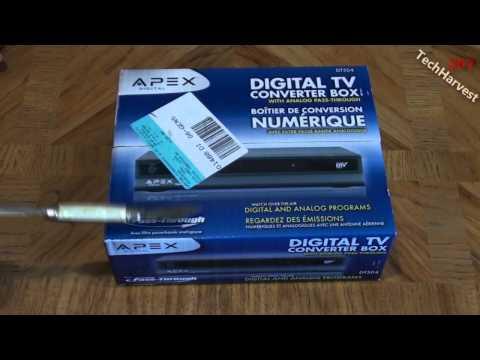 APEX Digital TV Converter Box Unboxing