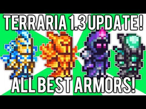 Terraria 1.3: All BEST Armor! Nebula, Solar Flare, Vortex, & Stardust Armor Sets! @demizegg