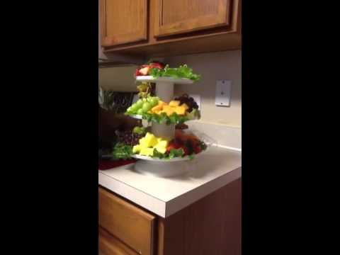 DIY: How to make a fruit tray tower display for an event