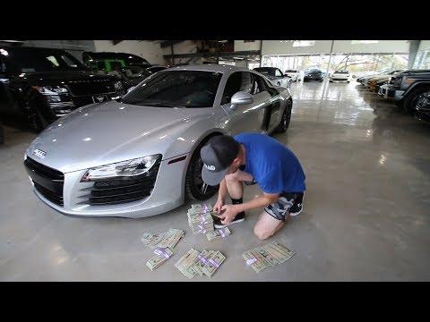 Buying my Audi R8 in CASH!!