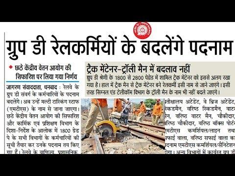 Indian Railway group d various post trackman man/khalasa etc new post name by railway