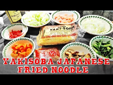Easy Yakisoba Japanese Chicken Fried Noodle Recipe~
