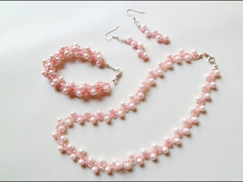 PandaHall Jewelry Making Tutorial Video--How to Make Beaded Spiral Pearl Jewelry Set