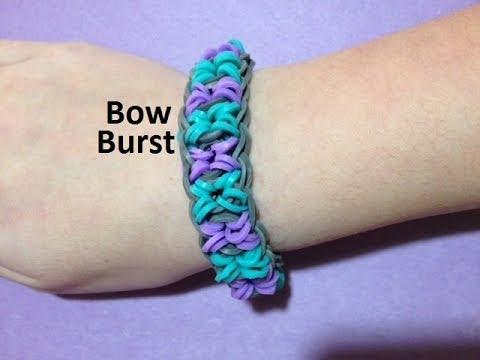 How to Make a Bow Burst Bracelet on the Rainbow Loom - Original Design