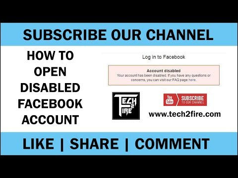 How To Unlock Disabled Facebook Account | Open Disabled Facebook Account Appeal | Tech2Fire