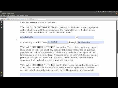 PDF Fillable Forms - Evince & Adobe Reader - Ubuntu 10.10
