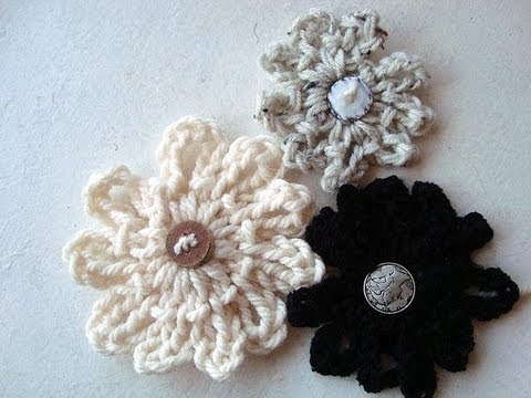 How to crochet a LOOPY FLOWER Easy!