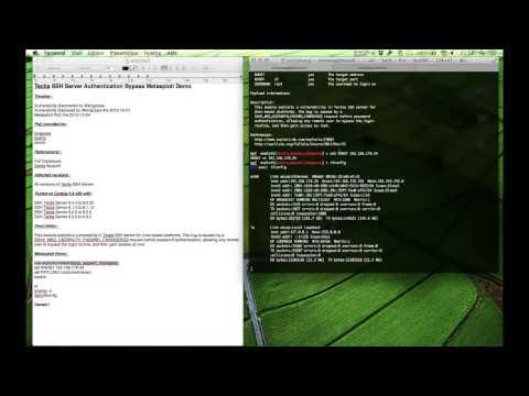 Tectia SSH Server Authentication Bypass Metasploit Demo