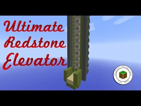 Minecraft: 1.8.1 Up And Down 4 Speed Redstone Elevator