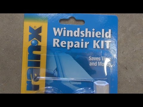 How to fix a stone damaged windshield with the Rainx kit.