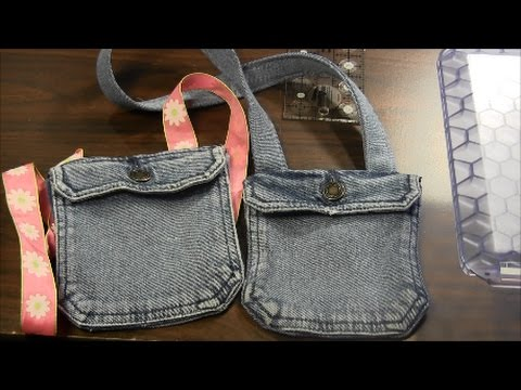 How to Sew Small Handbag from Old Clothes