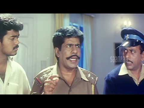 Vijay Intro Comedy | Minsara Kanna Tamil Movie | Vijay | Rambha | Manobala | Kushboo
