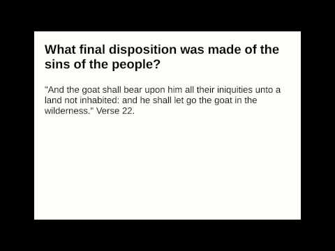 What final disposition was made of the sins of the people?