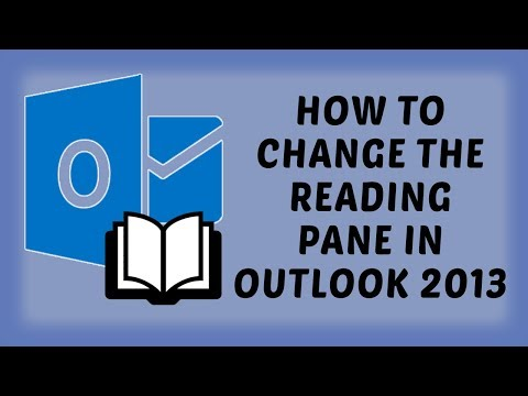 How To Change The Reading Pane In Outlook 2013 | Outlook Tutorials In Hindi