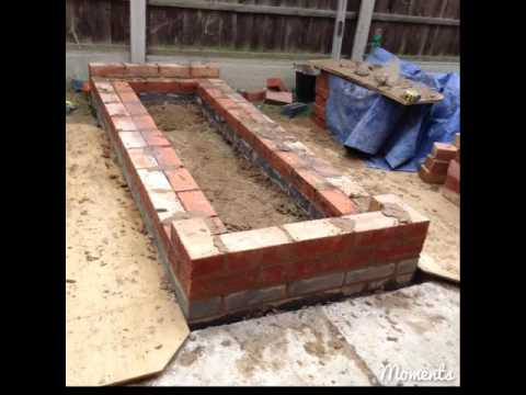How to build a brick raised bed and timber gate. Claystacker.