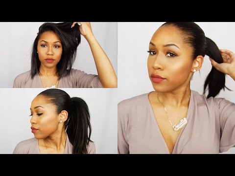 Faux High Ponytail for Short Hair (Weave Ponytail) | Relaxed Hair