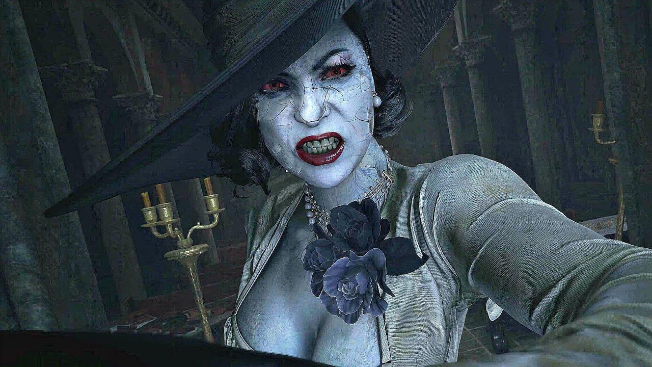 Resident Evil 8 Village - Lady Dimitrescu Boss Fight & Transformation (4K 60FPS)