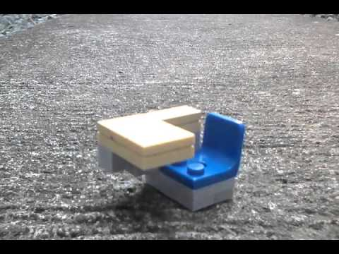 How To Build A Lego Classroom Desk! Mini figure Compatible!