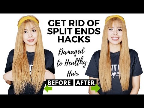 Tips On Trimming Split Ends- 7 Hacks On How To Get Rid Of Them + How To Deal With Damaged Hair