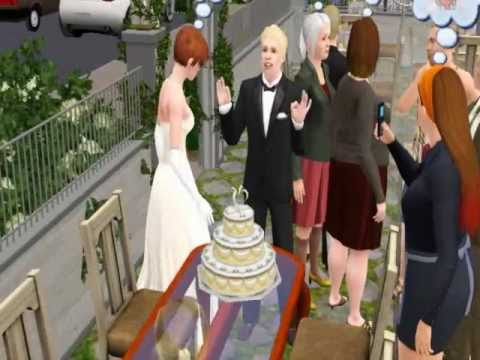 Sims 3 - Cutting the Wedding Cake