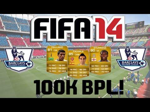 FIFA 14 Ultimate Team | 100k BPL Squad Builder ft. Cazorla, Paulinho & Sturridge!
