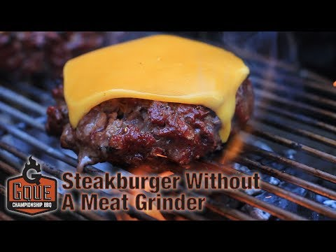 Hamburger Recipe - Grind your own hamburger meat using ONLY a knife.  Reverse Sear Hamburger (2017)