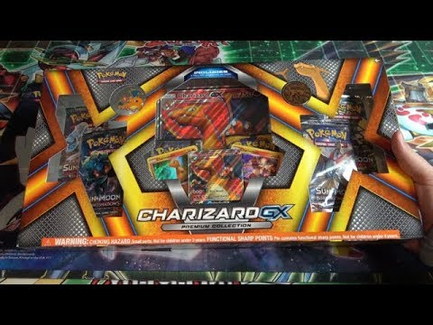Pokemon Charizard GX Premium Collection Opening