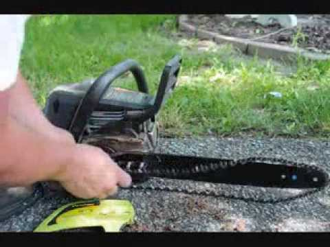How To Change a Chainsaw Chain