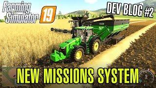 FARMING SIMULATOR 19 | NEW MISSION SYSTEM - Dev Blog #2