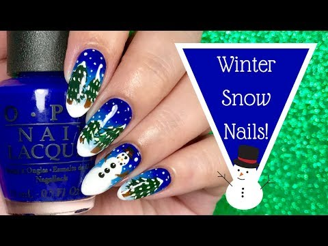 🌲 ❄️ Winter Snowy Christmas Nail Tutorial | Day 10 of my 12 days of Christmas!  ❄️ 🌲