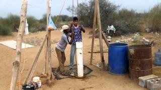 (الغروي ) حفر بئر ارتوازي يدوي 1