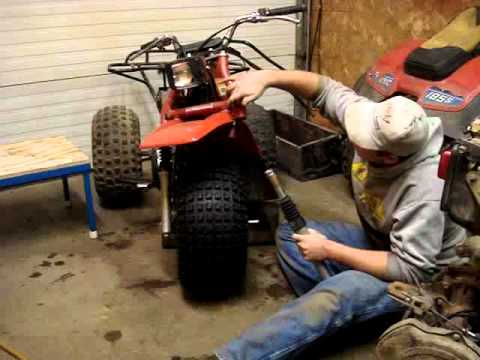 Removing a Honda 185 ATC front tire