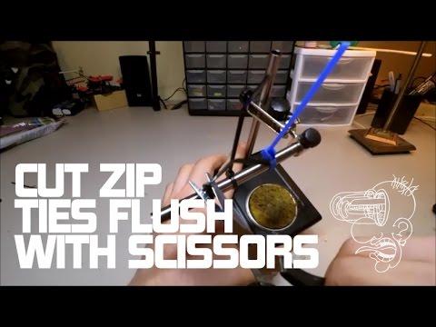 How to cut zip ties flush with scissors