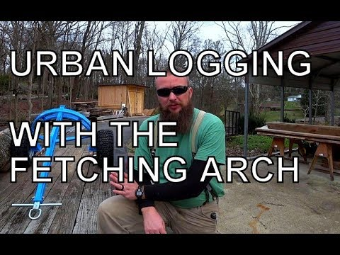 URBAN LOGGING, HOW TO HARVEST TIMBER WITHOUT BIG EXPENSIVE MACHINERY