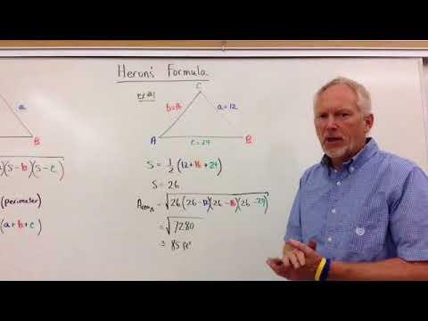 Heron's Formula (Area of a Triangle)
