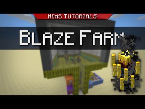 Minecraft: Tutorial | How to Build a Simple & Efficient Blaze Farm