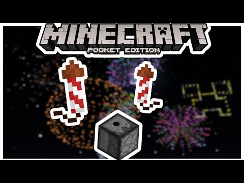 How To Make Fireworks In Minecraft Pe ( Alternative ) | MCPE ( pocket edition )