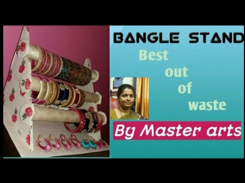 How to make Bangle stand with cardboard |DIY |By Master arts.