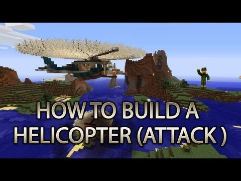 Minecraft Xbox 360: How to Build a Helicopter (ATTACK FIGHTER) cRz Build Team