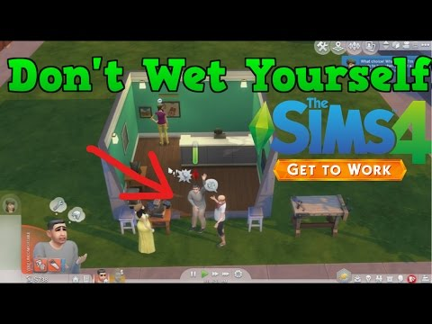 Don't Wet Yourself!!!  || Sims 4 Get To Work Let's Play [9]