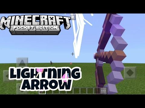 Minecraft [PE] How to make a lightning arrow