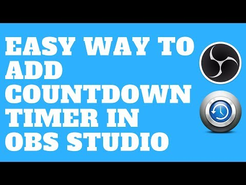 Easy Way to Add Countdown Timer in OBS Studio