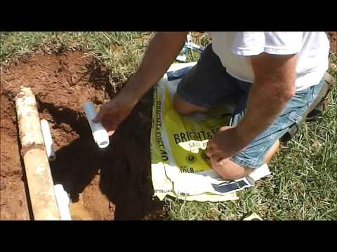 In Line PVC check valve replacement (PVC pipe repair)