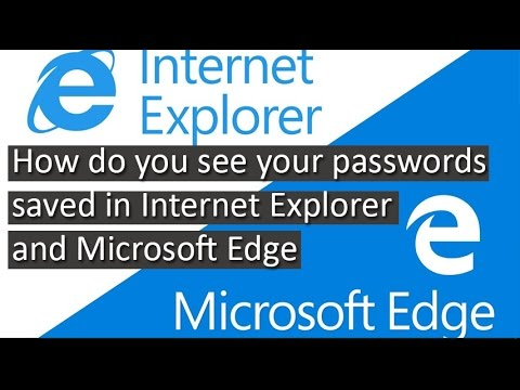 Microsoft Edge and Internet Explorer password manager