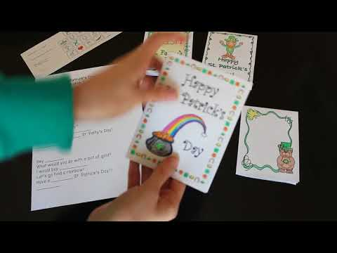 Differentiated St. Patrick's Day cards - Helping All Students Write (special education)
