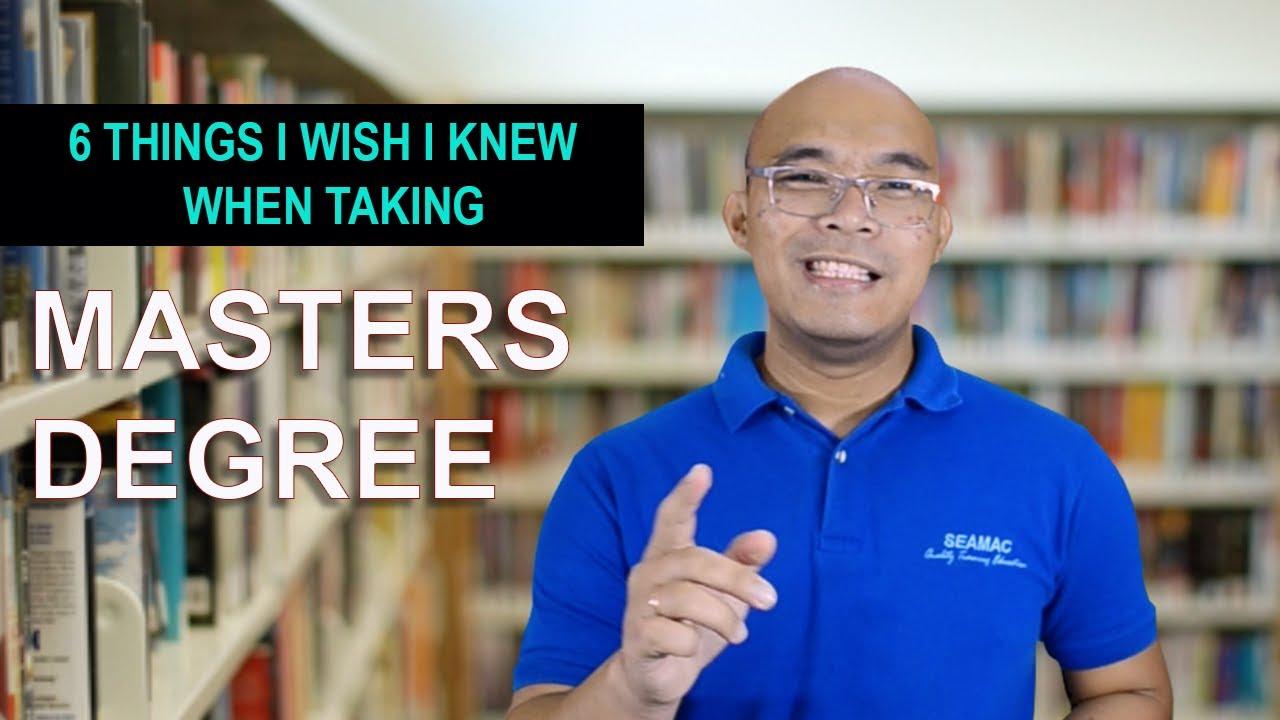 6 Things I wish I knew when taking Masters Degree   Filipino version