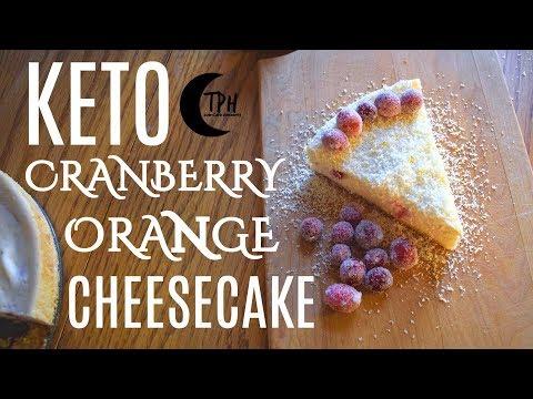 Keto Orange Cranberry Cheesecake | Low-Carb Cheesecake Recipe