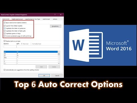 6 Auto Correct Options | That Can Help You Boost Speed | Microsoft Word 2016 Tutorial