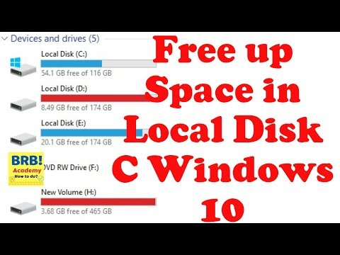 How to Free Up Space in Local Disk C Windows 10
