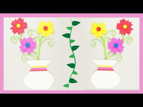 Flower with Pot | Foam Paper Frame TCraft